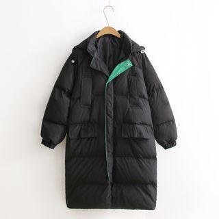 Long Hooded Padded Jacket
