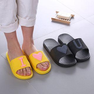 Heart Bathroom Slippers