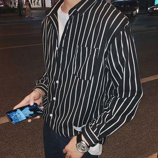 Stripe Pocket Patch Shirt
