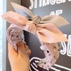 Dotted Fabric Bow Headband