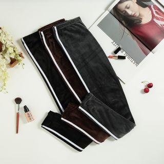 Striped Cropped Skinny Pants