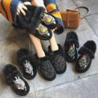 Embroidery / Sequined Snow Short Boots