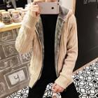 Hooded Thick Cardigan