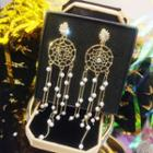 Dreamcatcher Drop Earrings Gold - One Size