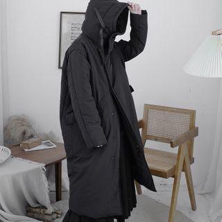 Asymmetrical Hooded Zip Coat