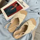 Woven Cross Strap Sandals