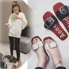Strapped Slide Sandals
