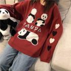 Panda Pattern Sweater As Shown In Figure - One Size