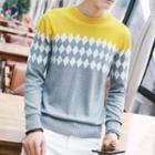 Argule Pattern Knit Top