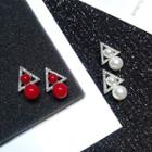 Rhinestone Triangle Beaded Earrings