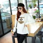 Owl Applique Fleece Pullover
