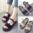 Platform Slingback Slide Sandals