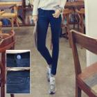 Cotton Blend Skinny Pants