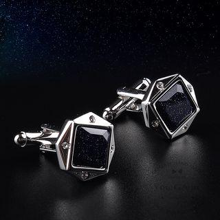 Square Gemstone Cufflinks