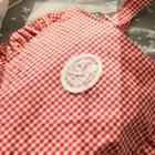Frilled Gingham Shopper Bag Red - One Size