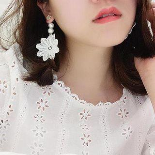 Lace Pearl Earrings