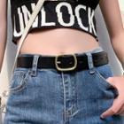 Genuine Leather Belt Black - Black