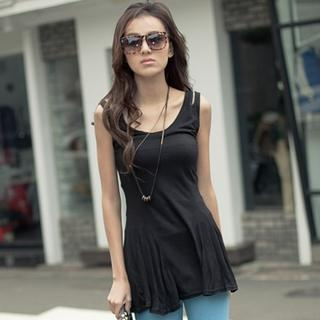 Sleeveless A-line Top