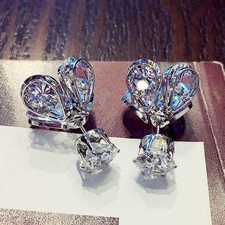 Rhinestone Firefly Earrings