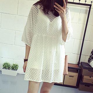 Dotted Chiffon Dress