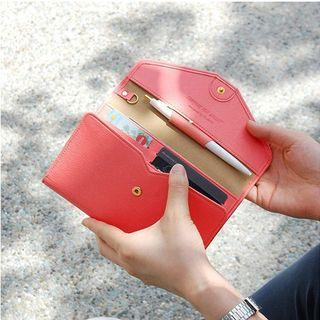 Envelope Long Wallet Coffee - One Size