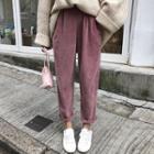 Corduroy Harem Pants Mauve - One Size