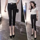Cropped Ripped Skinny Pants