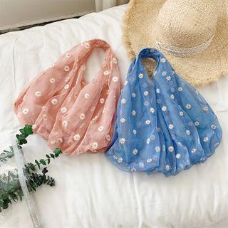 Floral Mesh Handbag