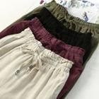 Drawstring Linen Cotton Pants