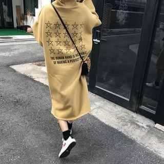 Midi Lettering Hoodie Dress