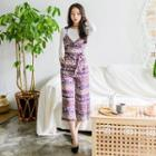 Sleeveless Pattern-printed Playsuit