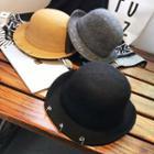 Metal Ring Bowler Hat