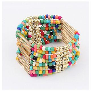 Beaded Multi-strand Statement Bracelet