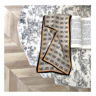 Butterfly Print Silk Narrow Scarf