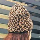 Leopard Print Knit Beanie