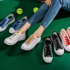 Platform Lettering Canvas Sneakers