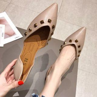 Rivet Pointed Flats