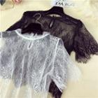 Short-sleeve Sheer Lace Top