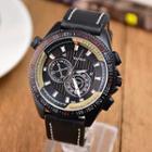 Faux-leather Luminous Strap Watch