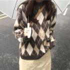 Argyle Sweater Argyle - One Size