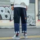 Patchwork Straight-cut Pants