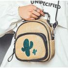 Woven Embroidered Mini Backpack