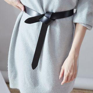 Faux Leather Knotted Belt