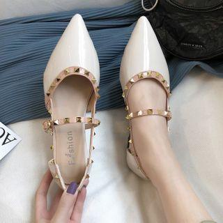 Pointed Studded Dorsay Flats