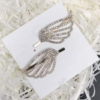 Rhinestone Wing Hair Pin