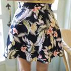 Floral Flared Mini Skirt
