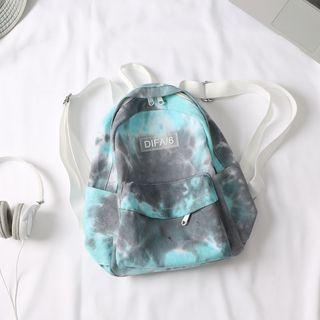 Canvas Splash Ink Print Backpack