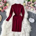 Plain Skinny Knitted Dress