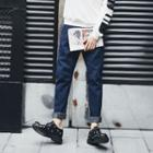 Tapered Panel Jeans