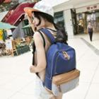 Colour Block Canvas Backpack